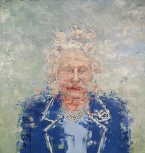 "Diamonds & Pearls (Liz). Oil on Canvas. 60 x 60"". 2016"