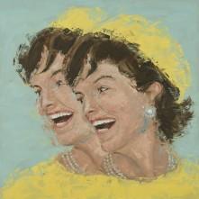 "Jackie. Oil on Canvas. 36 x 36"". 2017."