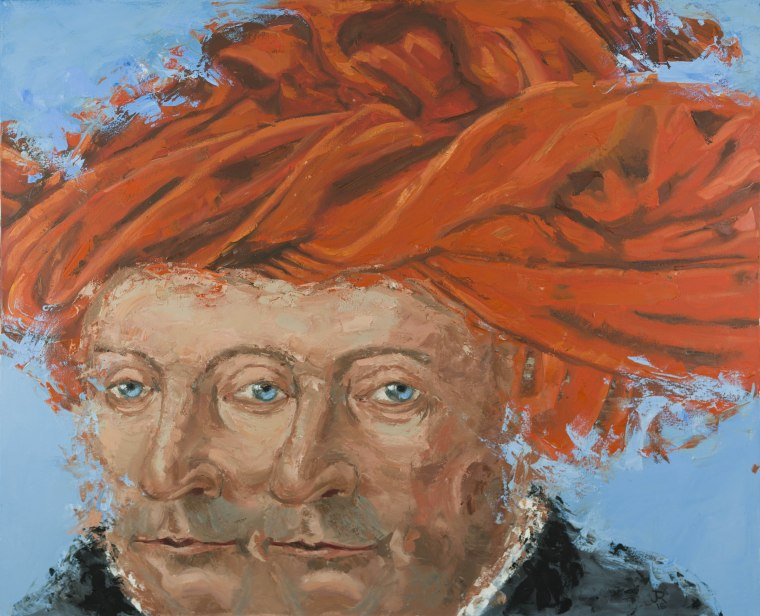 Man in a Red Turban (after van Eyck)