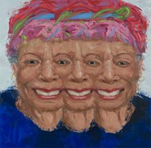 "Maya. Oil on Canvas. 36 x 36"". 2017."