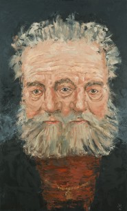 """Old Man (after Rembrandt) Oil on Canvas. 60 x 36"""". 2016."""