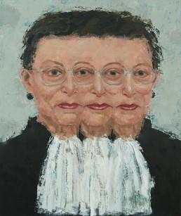 """RBG. Oil on Canvas. 36 x 30"""". 2017."""