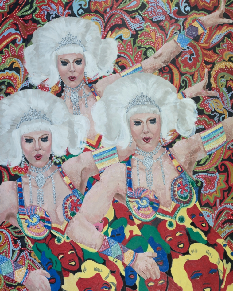 THE QUEENS (DRAG) 60X48